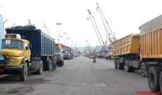 وصول السفينة المحملة بالشاحنات والسائقين اللبنانيين من العراق إلى طرابلس