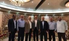 القيادي سمير المشهراوى ووفد من قيادة تيار الاصلاح التقى بقيادة حماس