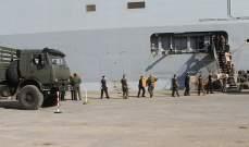 """الجيش: وصول حاملة الطوافات الفرنسية """"PHA TONNERRE"""" إلى مرفأ بيروت"""