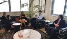 تيمور جنبلاط التقى سفيرة سويسرا وسفيرة لبنان في الاردن
