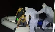 خفر السواحل التركي أنقذ 21 طالب لجوء على متن قارب مطاطي قبالة سواحل مرمريس