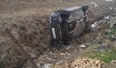 النشرة: سقوط جريح بحادث سير عند مفرق نيحا