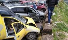 جريحان نتيجة حادث سير على طريق سوق الخان- مرجعيون في الهرماس