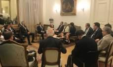 تاسك فورس بعد لقاء باسيل:  لدعم جهود لبنان إنسانيا وأمنيا لحل أزمة النازحين