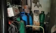 محافظ بيروت أمر بمصادرة قوارير غاز مخزنة مع مواد قابلة للاشتعال في مستودع في مار مخايل