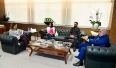 عبد الصمد استقبلت وفداً من الشبكة العربية للإعلام والإعلان في طرابلس