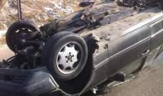 النشرة: جريحان اثر انقلاب سيارة على طريق انصار