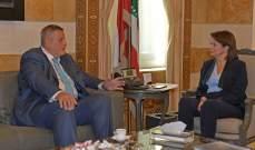 الحسن التقت كوبيش وعرضت معه التطورات على الساحة اللبنانية