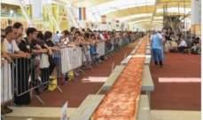 أكبر بيتزا في العالم تدخل موسوعة غينيس