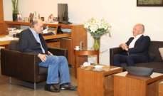 جعجع عرض مع أنطوان اندراوس الأوضاع السياسية العامة في لبنان والمنطقة