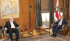 هنية: لبنان القوي والموحد هو رصيد استراتيجي للقضية الفلسطينية ومخيماتنا عنوان استقرار وأمن