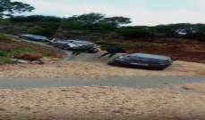 بلدية طرابلس قطعت الطريق في أبي سمراء بالإتجاهين بعد انجراف التربة