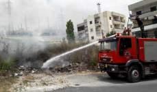 النشرة: سرية إطفاء صيدا أخمدت ثلاثة حرائق أعشاب في منطقة صيدا