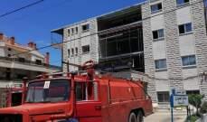 احتراق سقف قرميدي لاحدى المستشفيات في جب جنين والاضرار مادية