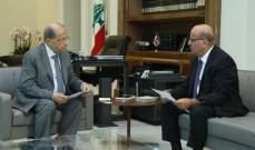 الرئيس عون التقى الممثل الشخصي له لدى منظمة الفرانكوفونية