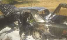 احتراق سيارة على اوتوسترا زحلة الرحاب والأضرار مادية