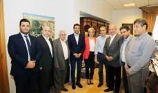 شبيب التقى نجم ومخزومي ودبوسي ووفدا من حزب الحوار الوطني