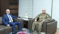 قائد الجيش التقى النائب أنطوان بانو وبحث معه الاوضاع العامة