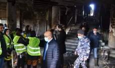 مفوض الحكومة لدى المحكمة العسكرية اطلع على الأضرار في بلدية طرابلس