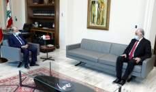 الرئيس عون التقى فهمي وعرض معه الأوضاع الأمنية وموضوع الإنتخابات الفرعية