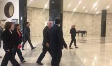 وصول وزير الخارجية الاميركي إلى القصر الجمهوري للقاء الرئيس عون