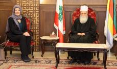 الشيخ نعيم حسن يلتقي السفيرة الاميركية وتلقى اتصالا من ميشال سليمان