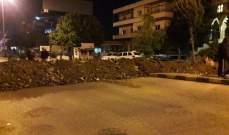النشرة: قطع السير على طريق عام سعدنايل في الاتجاهين بالسواتر الترابية