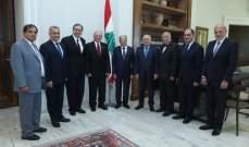 """الرئيس عون التقى وفد أطباء من جمعية """"Home"""" بحضور النائبين عون وطرابلسي"""