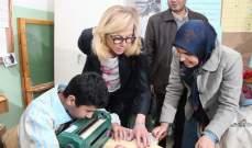 كاغ جالت على مؤسسات جمعية المبرات:معجبة بمنهجية ونوعية التعليم المتبعة