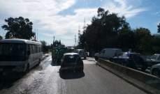 النشرة: زحمة سير خانقه على طريق الزهراني الطريق البحرية بسبب حفريات