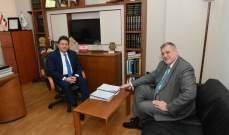 كنعان بحث مع كوبيتش الاصلاحات المالية وقوانين مكافحة الفساد