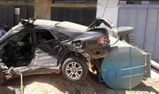اصابة سائق صهريج بجروح بحادث سير في خراج بلدة الدوسة - عكار