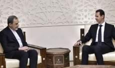 الاسد يستقبل مستشار الخامنئي في القصر الرئاسي بدمشق