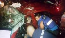 جريحتان في حادث سير على طريق عجلتون كسروان