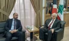 رئيس الحزب القومي التقى السفير الكوبي