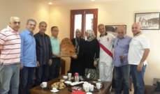 رباب الصدر جالت في بشري برفقة رئيس بلديتها