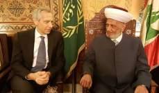 المفتي دريان التقى المبعوث الخاص للاتحاد الأوروبي لحرية الدين