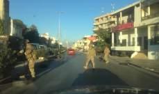 النشرة: قطع الطريق الدولي في بعلبك والجيش عمل على اعادة فتحه