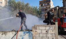 النشرة: اخماد حريقي هشير في صيدا