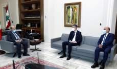 الرئيس عون استقبل رئيس لجنة الصداقة النيابية اللبنانية –الفرنسية وتلقى برقية تهنئة بالاعياد من ملك البحرين