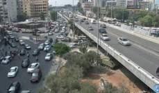 حركة المرور كثيفة من المدينة الرياضية باتجاه الكولا وصولا لسليم سلام