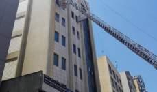 حريق في سنتر مهدي قرب كنيسة مار مخايل بسبب ماس كهربائي