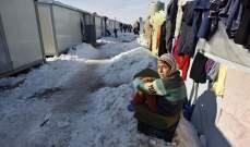 الأمم المتحدة: وفاة 15 طفلاً نازحاً في سوريا جراء البرد القارس