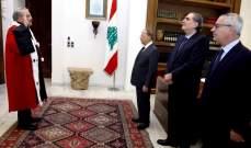 رئيس هيئة التفتيش القضائي القاضي بركان سعد يقسم اليمين أمام رئيس الجمهورية