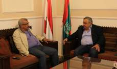 سعد عرض مختلف المستجدات مع رئيس حركة لبنان الشباب
