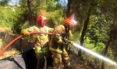 طوافة للجيش تساعد في إخماد حريق الضنية قبل تمدده