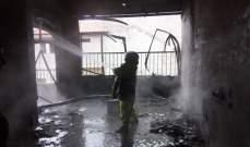نجاة ام وطفلها من حريق منزلهما في مزبود والدفاع المدني عمل على إخماده