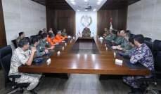 قائد الجيش التقى فريق الطيارين من الأردن وقبرص الذين شاركوا بإخماد الحرائق