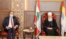 شيخ العقل استقبل سفير تونس في لبنان وعرض معه موقف بلاده الداعم للبنان