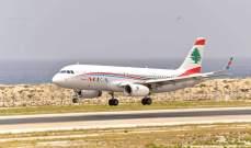 وصول الطائرة القادمة من لارنكا إلى مطار بيروت وعلى متنها 77 مغتربا لبنانيا